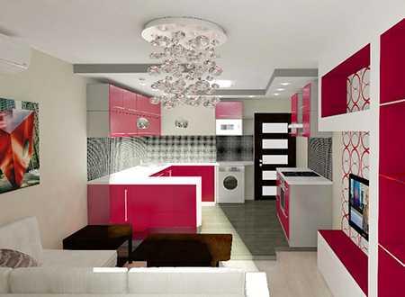 Дизайн проект гостиной 18 квм 191
