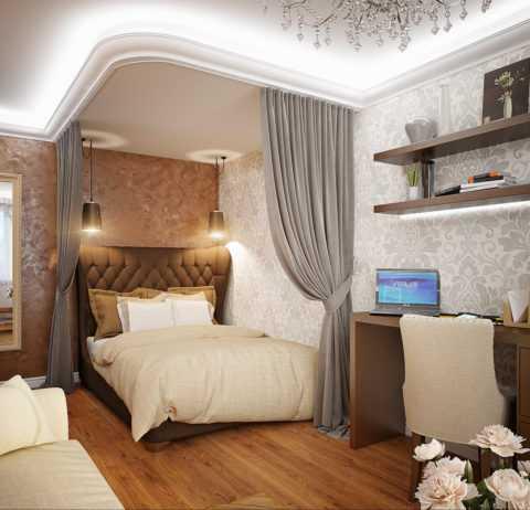 Дизайн зал спальня