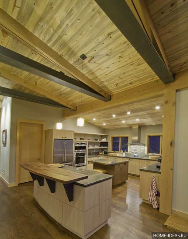 Кухни интерьер фото с барной стойкой