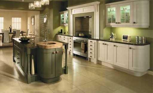 Кухня оливковая в интерьере