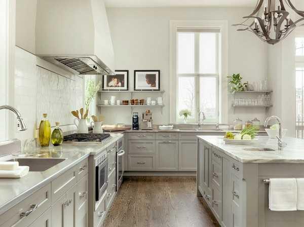 Кухня серая в интерьере