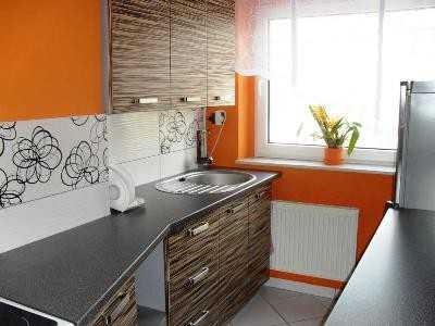 обои на маленькую кухню в интерьере фото