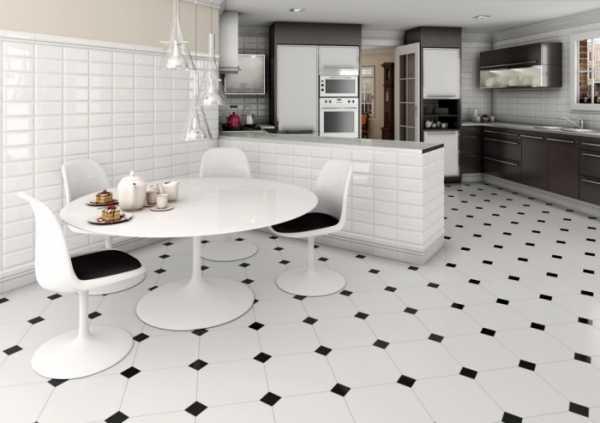Пол на кухне: все о материалах, дизайне и монтаже своими руками Геометрический дизайн плиточных полов