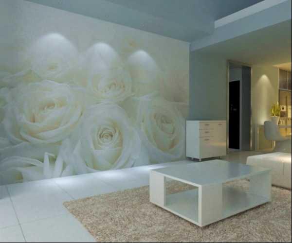Розы фотообои в интерьере