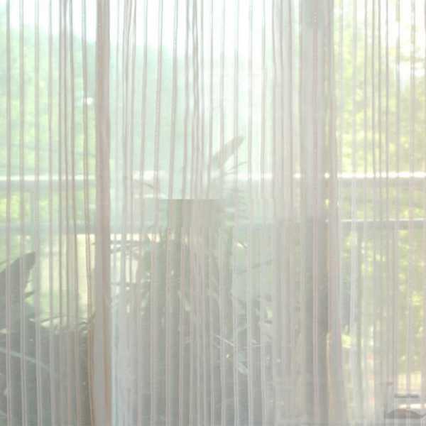 Шторы нити в интерьере фото с тюлью