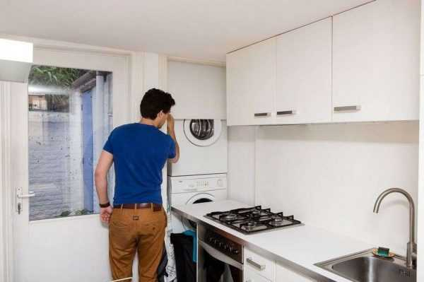 Стиральная машина на кухне фото в интерьере