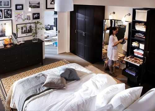 спальня икеа в интерьере реальные фото
